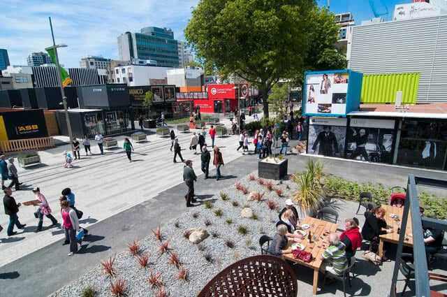 Image of Christchurch post-earthquake with the redevelopment that has taken place
