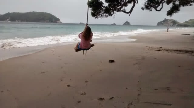 Rope Swing, Hahei Beach, Coromandel Peninsula