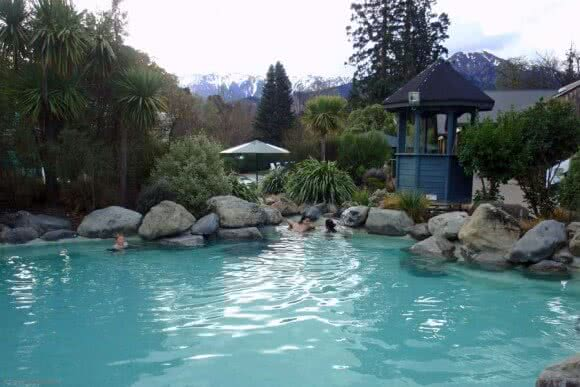 Image showing the thermal pools at Hanmer Springs just North of Christchurch, New Zealand