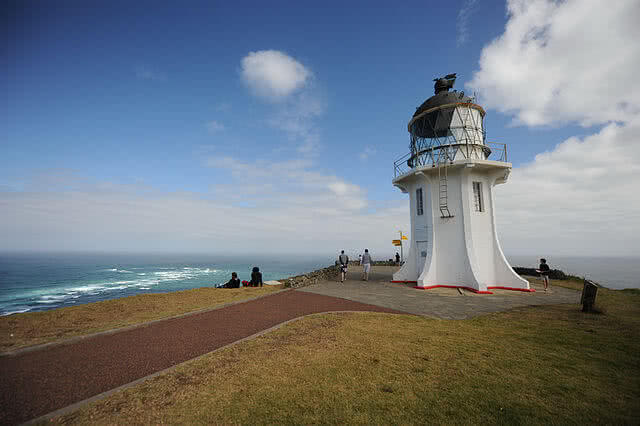 Cape Reinga Sign and lighthouse