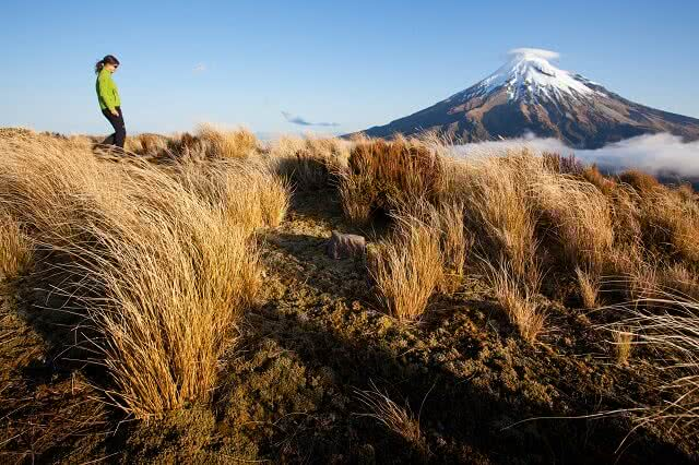 The Pouakai Crossing rivals the Tongariro Crossing as the best one day walk in New Zealand