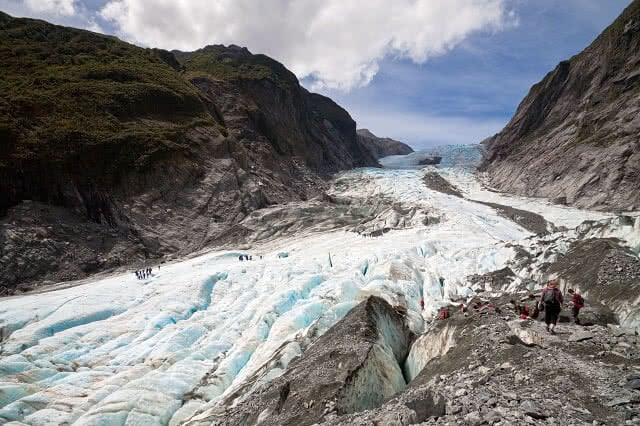 A hike on the Franz Josef or Fox glacier on the West Coast is an NZ must do