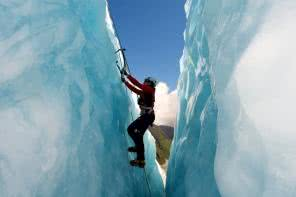 Ice climbing on the Franz Josef glacier