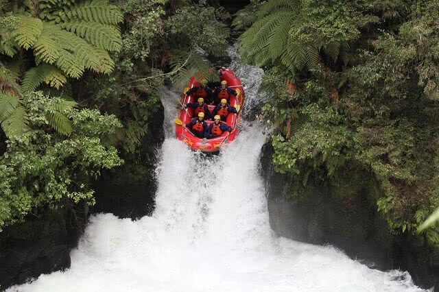 River Rats rafting on the Kaituna River waterfall