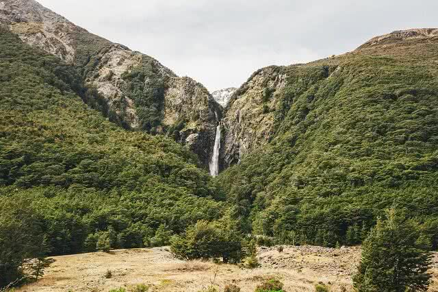 Devil's Punchbowl Waterfall in the Arthur's Pass National Park