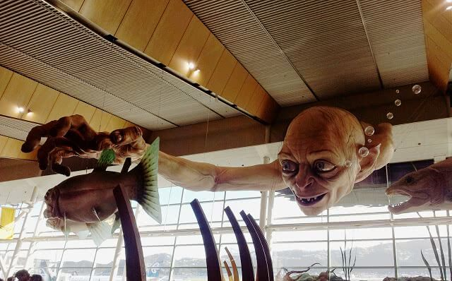 Gollum at the Weta Workshop in Wellington