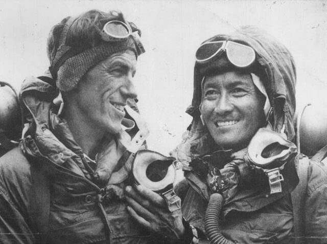 Sir Ed with Tenzing