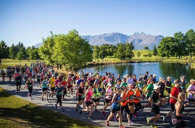 Competitors at the Queenstown Marathon